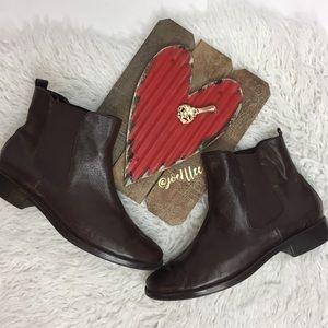 Aerosoles Brown Leather Boots Low Heels